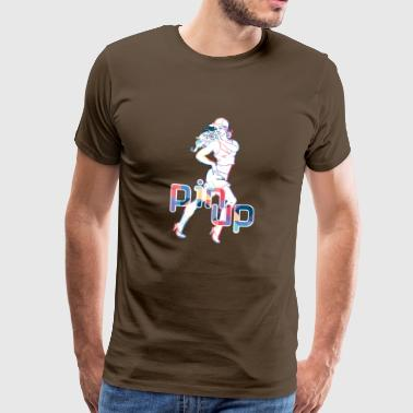 PIN UP SPORT GIRL - Mannen Premium T-shirt