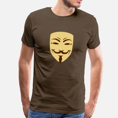 Hacker anonymous - Männer Premium T-Shirt