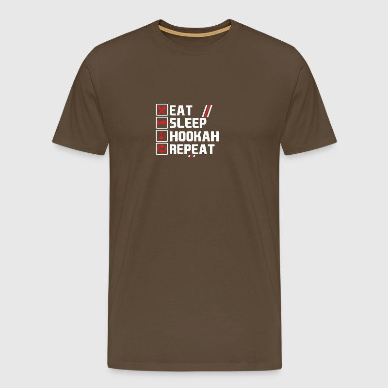 Eat Sleep Hookah Repeat / Shisha - Men's Premium T-Shirt