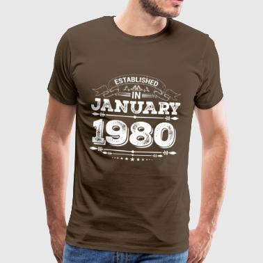 Established in January 1980 - Men's Premium T-Shirt