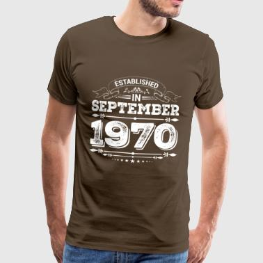 1970 Established in September 1970 - Men's Premium T-Shirt