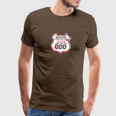 With Full Force Route 666 - Bloody Style 2c - Männer Premium T-Shirt