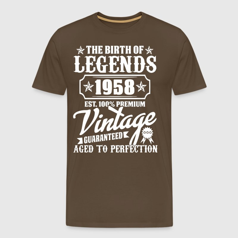 The Legends of Birth 1958 Vintage Premium - Miesten premium t-paita