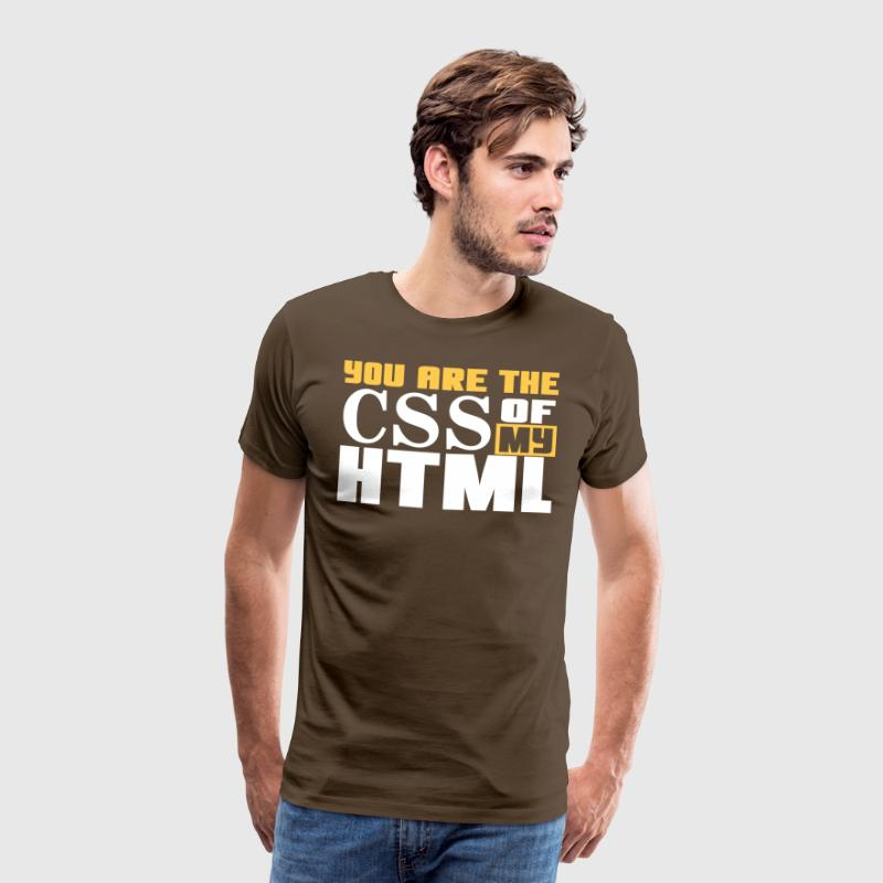 You are the CSS of my HTML - Koszulka męska Premium