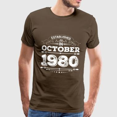 Established in October 1980 - Men's Premium T-Shirt