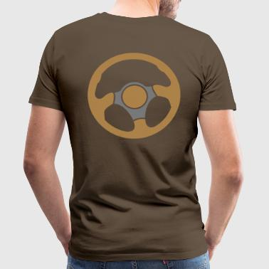 driving driver drivers wheel race racing - Men's Premium T-Shirt