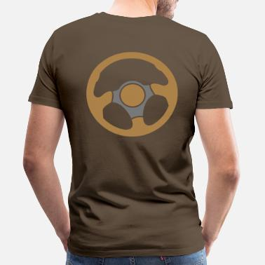Race Driver driving driver drivers wheel race racing - Men's Premium T-Shirt