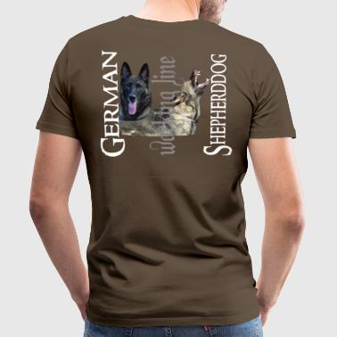 Shepherd dog, dog head, dog sport, dog - Men's Premium T-Shirt