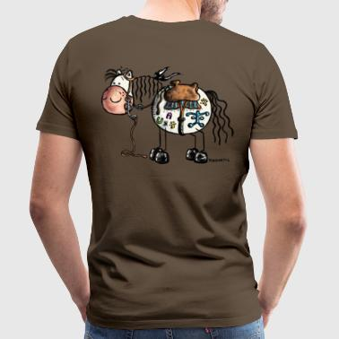 Funny Western Horse - Cartoon  - Men's Premium T-Shirt