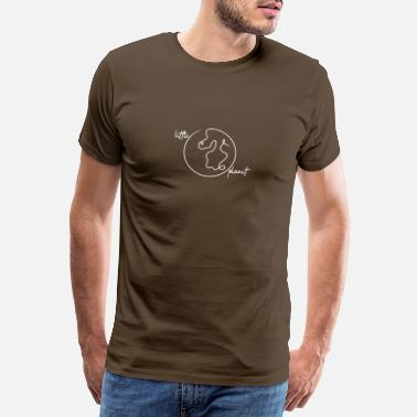 Line Art Little Little Planet Nature Minimalistic Travel - Men's Premium T-Shirt