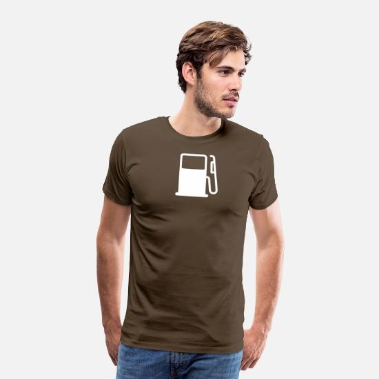 Diesel T-Shirts - petrol pump - Men's Premium T-Shirt noble brown