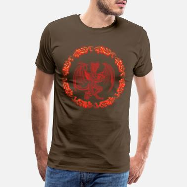 Boss Monster Circles Role Playing Fantasy Dragon - Men's Premium T-Shirt