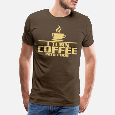 Geek I turn coffe into code - Men's Premium T-Shirt