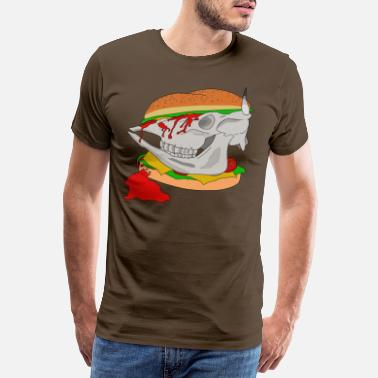 Animal Rights Hamburger - Männer Premium T-Shirt