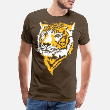 Animal Collection Tiger, Tigre - Herre premium T-shirt