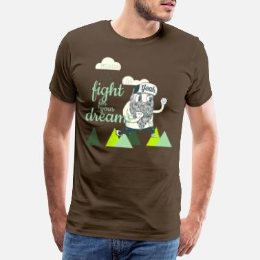 Bart Fight for your Dreams - Männer Premium T-Shirt