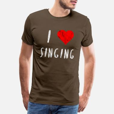 I Heart Karaoke I love singing singer dancer club party gift - Men's Premium T-Shirt