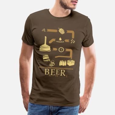 Hops The way of Beer - Men's Premium T-Shirt