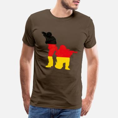 Red Army Soldiers Bundeswehr - double exposure - Men's Premium T-Shirt