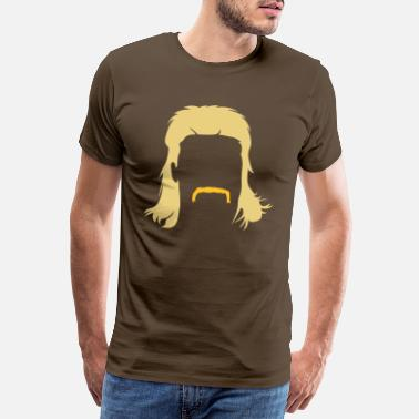 Retro Mullet hairstyle with Schnautzbart - Men's Premium T-Shirt