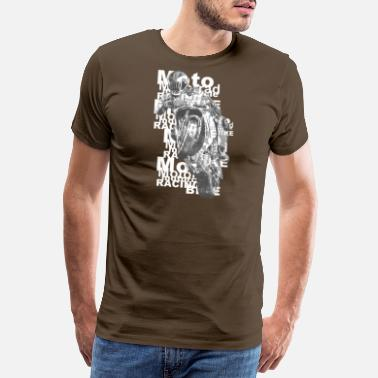 Motor Race motorcycle - Premium T-shirt mænd