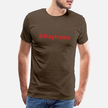 Socialiste Stay home social cadeau introverti - T-shirt premium Homme