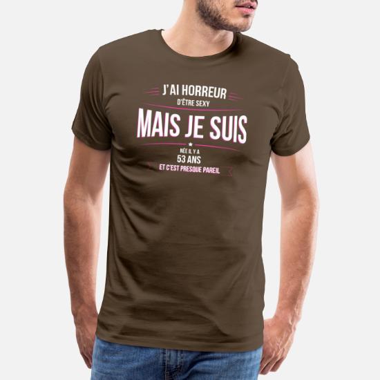 53 Ans Age Anniversaire Humour T Shirt Premium Homme Spreadshirt