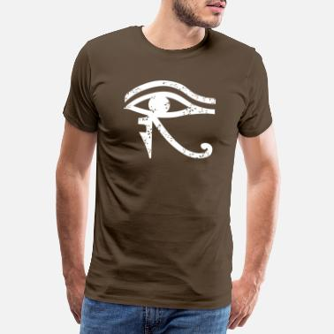 Horus The eye of Horus (on dark Tshirt) - Men's Premium T-Shirt