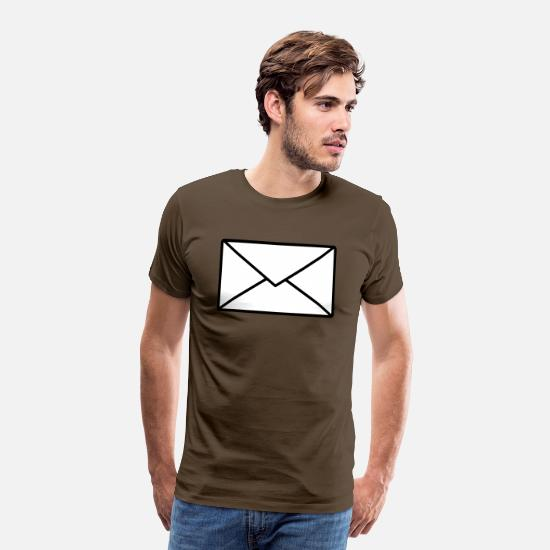 Shape T-Shirts - letter - Men's Premium T-Shirt noble brown