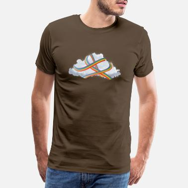Weightless single fluffy cloud wrapped in rainbow - Men's Premium T-Shirt