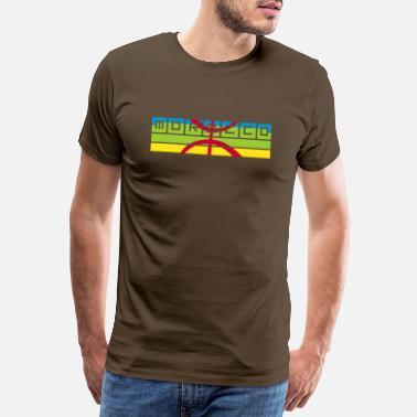9ba10fbc9a4f9e Vlag Van Marokko Marokko Amazigh - Mannen premium T-shirt