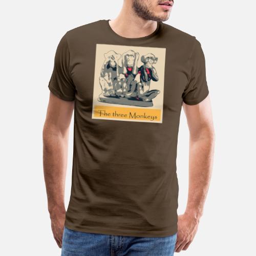 Hombre Tres Hombre Monos Camiseta Tres Hombre Monos Camiseta Camiseta Tres byYfg76