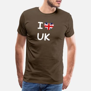 Gb Souvenir I love UK flag United Kingdom - Men's Premium T-Shirt