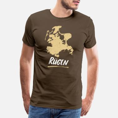 Holiday Island Rügen | Vintage retro map - Men's Premium T-Shirt