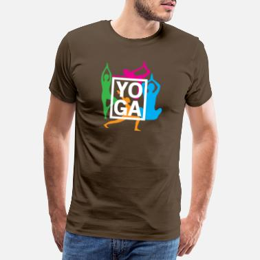 Hindi Yoga - Männer Premium T-Shirt