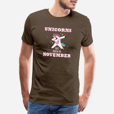 Einhorn November unicorns are born in november - Männer Premium T-Shirt