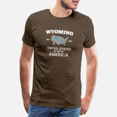 Americas Wyoming - Premium T-skjorte for menn