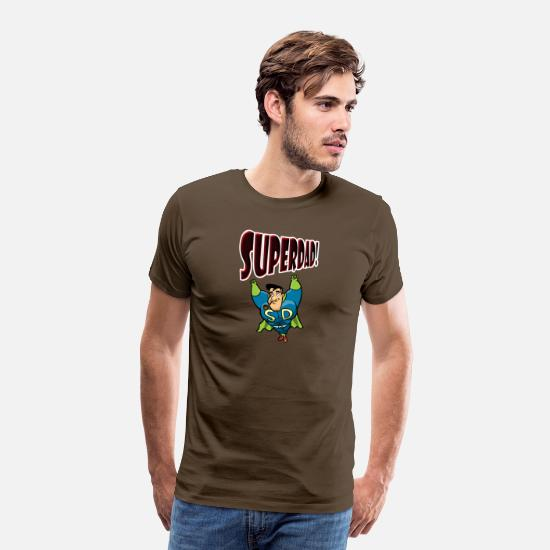 Father's Day T-Shirts - SuperDad - Men's Premium T-Shirt noble brown