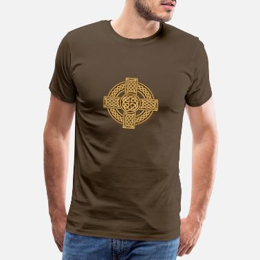 Celtic Knot Celtic cross irish scottish - Men's Premium T-Shirt