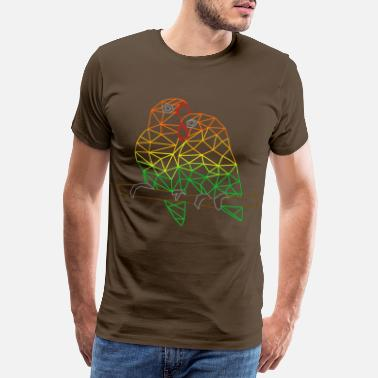 Geometric Rainbow geometric lovebirds - Men's Premium T-Shirt