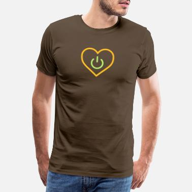 Datum power of love v3 - Premium T-shirt herr