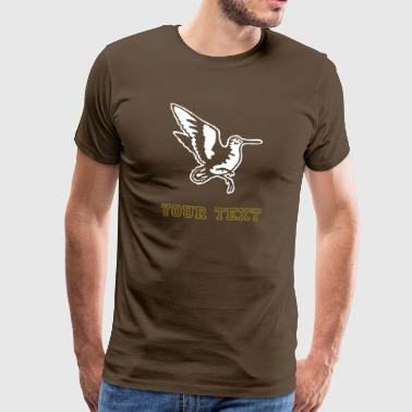 rampant_woodcock_on_dark - Männer Premium T-Shirt