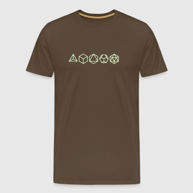 Platonic Solids, Sacred Geometry, Mathematics - Men's Premium T-Shirt