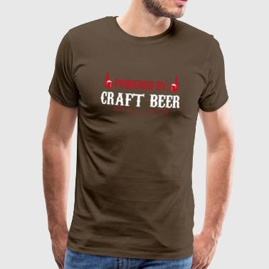 Propulsé par Craft Beer Craft Beer Gift - T-shirt Premium Homme