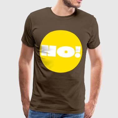 Point, Yellow, answer, reply, question, Dot, Nerd - Männer Premium T-Shirt