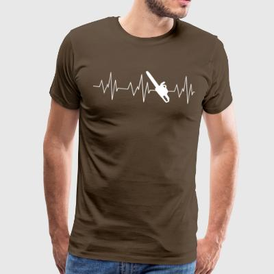Heartbeat Forest - Premium T-skjorte for menn