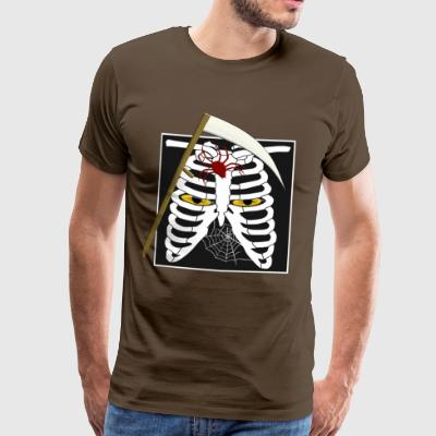 Halloween Sensenmann cat eyes spider ribs - Men's Premium T-Shirt