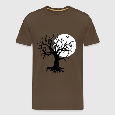 scary tree raven - Men's Premium T-Shirt