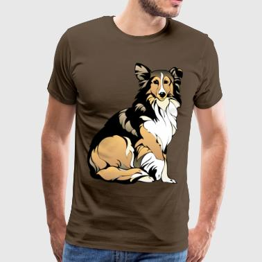 collie - Premium-T-shirt herr