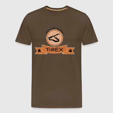 T REX WILD AND HUNGRY - Men's Premium T-Shirt